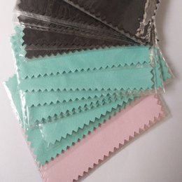 Wholesale 100pcs pack Silver Polish Cloth for silver Golden Jewelry Cleaner Black Blue Pink Green colors option Best Quality E packet