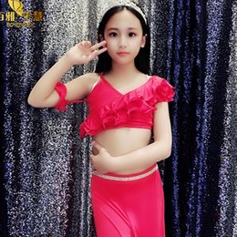 6ff816951646 Children Belly Dance Garment 2019 New Professional Practice Suit Set Girls  Dance Costumes Kids Bellydance Performance Wear H4514