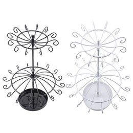 China Double Layer Rotary Necklace Jewelry Storage Rack Holder Sundries Organizer cheap jewelry necklace storage suppliers
