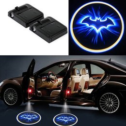 Cool Logo Car Australia - 2pcs Wireless Car Door Welcome Light No Drill Type Cool Bat Logo Lights LED Laser Shadow Projector Lamp for Most Cars