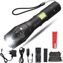 flashlight ultrafire battery Australia - 5000LM Powerful LED Flashlight Side COB Lamp Design T6 Zoomable torch 4light modes use 18650 battery for camping