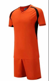 Soccer uniform kitS wholeSale online shopping - New arrive Cheap high quality soccer jersey soccer Football uniform kit No Brand uniforms kit Custom Name Custom LOGO Orange