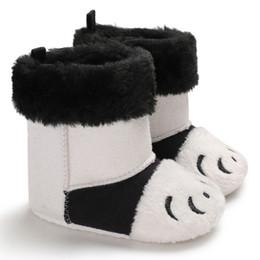 Discount cute baby boy boots - Baby Boots Winter Newborn Stitching Cute Plus Velvet Warm Toddler Boots Baby Boy Girl Cotton