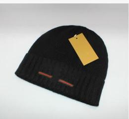 bc22e571573 2018 Franc brand mens designer hats bonnet winter beanie knitted wool hat  plus velvet cap skullies Thicker mask Fringe beanies hats for man