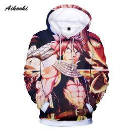 fairy tail prints Australia - Aikooki New Fairy Tail Anime Hoodies 3D Hot Sale Men Casual Print Fairy Tail Character 3d Sweatshirt Hoodie Long Sleeve Tops