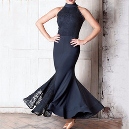 Women latin dance costumes online shopping - Fantasia Latin Dance Dresses For Ladies Black Color Sleeveless Skirts Professional Women Modern Flamenco Ballroom Costumes B024
