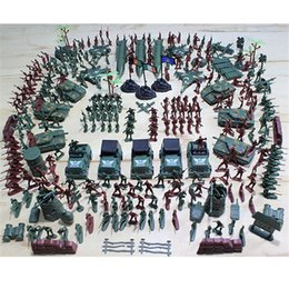Wholesale 307pcs Soldier Kit Grenade Tank Aircraft Rocket Army Men Sand Scene Model Kids Children Toy Funny Y190604