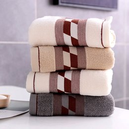 child shaped towels Australia - Home Boutique Cotton Wash Towel Set Packaging 3 Pcs Japanese Square Plaid Shaped Face Towel Bathroom Towels Gift Towels