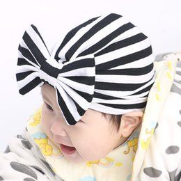 Heads Bands For Girls NZ - Stripe Indian hat baby girls kids turban headband hair head bands accessories for children headwrap hair ornaments Bandanas
