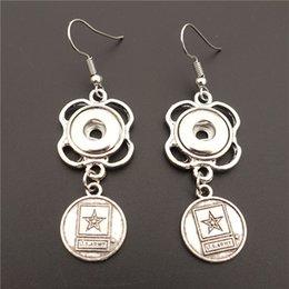 noosa snap earrings 2019 - Alloy US Army Star Earring Metal 12mm Snap Buttons Socket Earrings Female Girls Noosa Chunks Jewelry discount noosa snap