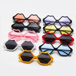 Baby Kid Sunglasses Australia - 2019 Lips Sunglasses Eyewear Gift Kids Fashion Glasses Frame Jewelry Accessories Kids Gift & Baby Sunglasses Vintage Red