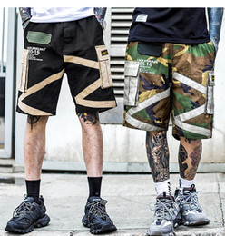 Wholesale military sweats for sale – custom Military Style Short Jogger Men Summer Cargo Shorts Patch Design Patchwork Fitness Sweat Shorts Casual Knee Length