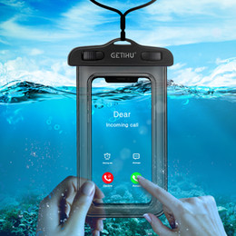 Wholesale Waterproof Phone Case For iPhone X Xs Max Xr Samsung S9 Clear PVC Sealed Underwater Cell Smart Phone Dry Pouch Cover