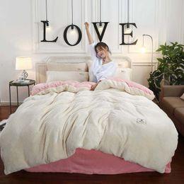 Ruffled linen bedding online shopping - FB1909010 Winter Warm New Arrival Fannel Home Textile Velvet Duvet Cover Set Fannel Bedspread Bedding Set Queen King Size set
