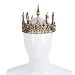 Crown theme party online shopping - Halloween Vintage Royal Headdress Cosplay Accessories Prop Theme Party Costume Bridal Wedding Tiaras Crowns Hair Accessories