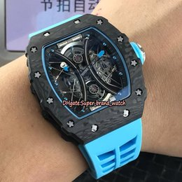 $enCountryForm.capitalKeyWord NZ - Best Edition RM 53-01 Pablo Mac Donough TPT Carbon Fiber Case Skeleton Dial Miyota Mechanical RM53-01 Luxury Mens Watch Rubber Sport Watches