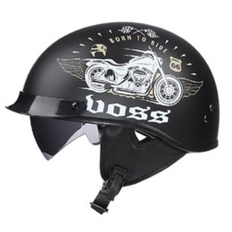 helmet black Australia - Sub black 66 Motorcycle Prince Helmet Men And Women Summer Half Helmet Portable Retro Motorcycle Electric Collar Professional
