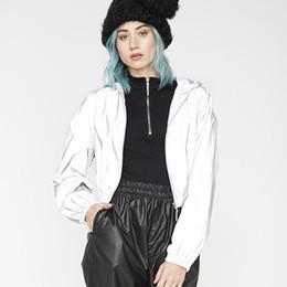 $enCountryForm.capitalKeyWord Australia - 2019 Women Coat Reflective Cloth Florescent Short Jacket Full Sleeve Streetwear for Girl Lady Cool Outwear