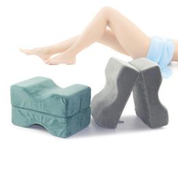 Travels Pillows Australia - Urijk Memory Foam Knee Leg PillowB-shape Leg Rest Support Travel Pregnancy Sleep Supplies Pregnant Detachable Maternity Pillow