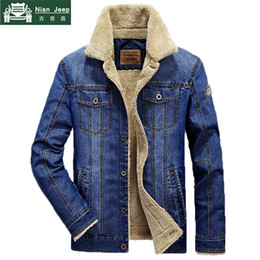$enCountryForm.capitalKeyWord NZ - Plus Size M-6XL Fashion Denim Jacket Men Winter Wool Liner Warm Mens Jackets Brand Outwear Jeans Coats Male Cowboy ClothingMX190828