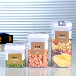 Vente en gros 0.5 / 0.8 / 1.2L Boîte de stockage des aliments en plastique ABS scellé Bac à légumes Bac de collations Conteneur de stockage Étanche Facile Verrouillage Canettes