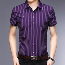 $enCountryForm.capitalKeyWord Australia - Short Sleeve Shirt Men Clothes 2019 Summer Mens Shirts Striped Slim Fit Casual Shirt Masculina Camisa Cotton Chemise Homme -XXXL