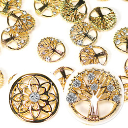 flower life silver Australia - Nail Art Decoration Crystal 3D Rhinestone Gold Silver Metal Design Shiny Flower Life Tree Heart Charms DIY Alloy for Nail Manicures Tool Gem