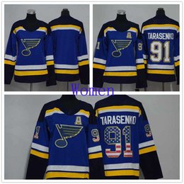 $enCountryForm.capitalKeyWord Canada - Women St. Louis Blues 91 Vladimir Tarasenko Blue Home Stitched NHL Jersey Blank USA Flag Ice Hockey Jerseys