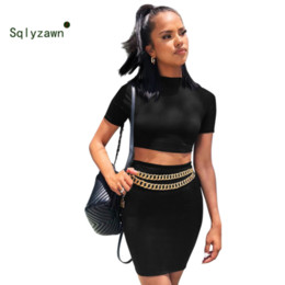 $enCountryForm.capitalKeyWord NZ - Women Two Piece Set Yellow Top and Skrit 2019 Summer 2 Piece Set Women Sexy Tracksuit Matching Skirt Sets Casual Women 2 Pcs Set