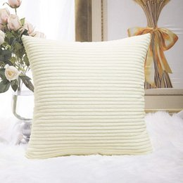 $enCountryForm.capitalKeyWord Australia - New Plush Pillowcase Soft Fur Furry Cushion Cover Corn Strips Square Waist Throw Pillow Cover Gifts Dropshiping MJ0015 Pillow Case