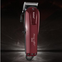 Red Cutter Australia - Kemei -2600 Men's Hair Trimmer Professional Clipper Barber Cutter Shaving Machine Cutting Hair Cutter Cut Shaver EU Charging Dual-purpose
