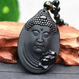 $enCountryForm.capitalKeyWord Australia - Manufacturers wholesale natural obsidian big day, Buddha head pendant, foreign trade explosion section, Sakyamuni Buddha jade pendant
