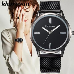 $enCountryForm.capitalKeyWord Australia - Foreign trade sales Golden mesh belt set auger female table Geneva watches men and women watches the spot promotion gifts
