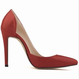 d40be4850694 Fashion Pumps Women Shoes Red Flock Slip-On Shallow Wedding Party Pointed  Toe High Heels Pump Chaussures Femme 900C1722