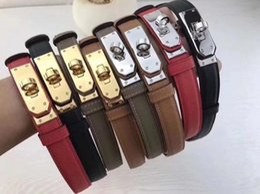 $enCountryForm.capitalKeyWord Australia - Gold buckle 2.0epsom4 color swift steel metal fashion men's belt genuine official belt belt box