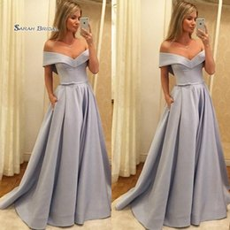 $enCountryForm.capitalKeyWord NZ - Off Shoulder Satin Ribbon Prom Party Dresses Evening Wear In Stock Hot Sales High-end Occasion Dress