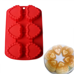 $enCountryForm.capitalKeyWord Australia - Ice Silicone Mold Cake Jelly Mould Heart Eco Friendly Baking Red Color Molds Opp Packing New Pattern 6 5hp J1