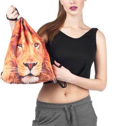 Cloth Bouquet Australia - Cloth Bag Drawstring Women's Bag 3D Digital Print Bouquet Pocket Backpack messenger for women 2018_11.28