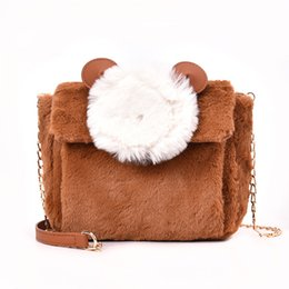2018 Winter Women Shoulder Bags Small Cute Animal Mouse Women Messenger Bags  Brand Faux Vevlet Leather Female Crossbody Bag 249cf5eca775e