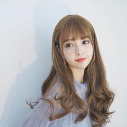 $enCountryForm.capitalKeyWord NZ - Korean net red wig fashion lady air bangs long curly hair natural buckle long curly hair fluffy wig headgear