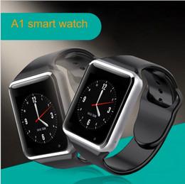 Bluetooth Smart Watch Sim Australia - A1 Smart watch Bluetooth Smartwatch SIM card for IOS iPhone Samsung Android Phone Intelligent Clock Smartphone Sports Watches Free shipping