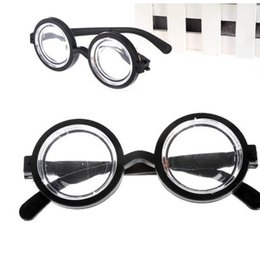 wholesale party eyewear UK - Child Boy Girl Eyewear Clown Perform Spectacles Plastic Round Frame Glasses Party Decorate Small And Exquisite MMA1913