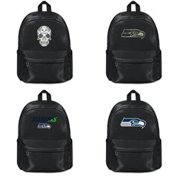 Discount army backpacks camo - Mens Womens nylon Backpack Seattle Seahawks designer Outdoor Laptop Kick Off Staff Skull Sugar logo Veterans day camo Go
