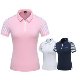 T Shirt Woman Korea Australia - 2019 Women Slimming Golf Shirt Short Sleeve Fitness Tennis T Shirt Sport Clothing Korea Tops Summer Sportswear D0696