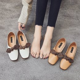 $enCountryForm.capitalKeyWord NZ - Gorgeous2019 Autumn Joker Original Old Single Schoolgirl One Pedal Flat Bottom Bow Grandma Shoe