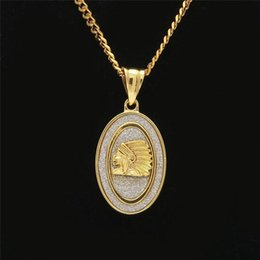 Native American Charms Australia - Fashion Angel Necklace Native American Pendant Necklaces Mens Luxury Full Diamond Gold Plated Chains AG Charm Necklaces Birthday Gift