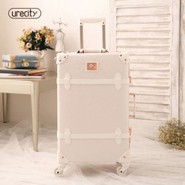 high quality luggage brands NZ - 2018 new travel luggage suitcase girl hardside luggage genuine leather spinner rolling retro high quality free shipping pu brand