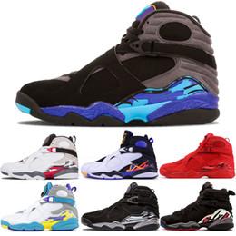 $enCountryForm.capitalKeyWord NZ - Hot Sale 8 Aqua Basketball shoes mens 8s Playoff Aqua Black Three Peat Valentines Day Chrome countdown pack Men Sports Outdoor Trainer Shoes