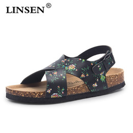 shoes man 43 2019 - Fashion men Cork Sandals 2019 New Unisex Casual Summer Beach Gladiator Buckle Strap Sandals Shoe Lovers Flat with Size 3