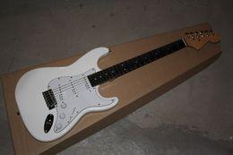 fingerboard free shipping 2019 - Free shipping 2019 Guitar Factory White Custom Shop Electric Guitar Ebony Fingerboard cheap fingerboard free shipping